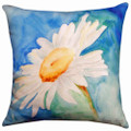 """DAZZLING DAISY INDOOR OUTDOOR PILLOW - 18"""" SQUARE - FLORAL DECOR"""