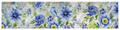 """BLUEBIRD IN THE GARDEN"" TABLE RUNNER - 13"" X 72""L - BIRD & FLORAL"