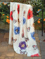 "POPPIES & BUTTERFLIES THROW BLANKET - 50"" X 60"" - POPPY - BUTTERFLY"