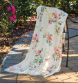 """ROMANTIC ROSES"" THROW BLANKET - 50"" X 60"" - POLYESTER THROW"