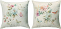 "ROMANTIC ROSES REVERSIBLE PILLOW - 18"" SQUARE - FLORAL DECOR"