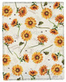 "PROVENCAL SUNFLOWER THROW BLANKET - 50"" X 60"" - FLORAL THROW"