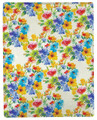 "CHELSEA GARDEN THROW BLANKET - 50"" X 60"" - FLORAL THROW"