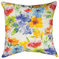 "CHELSEA GARDEN INDOOR OUTDOOR PILLOW - 18"" SQUARE - FLORAL PILLOW"