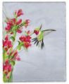 "SWEET HUMMINGBIRD THROW BLANKET - 50"" X 60"""