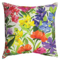 "GARDEN FLORAL INDOOR OUTDOOR PILLOW - 18"" SQUARE"