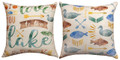 """TO THE LAKE"" INDOOR OUTDOOR  REVERSIBLE PILLOW - 18"" SQUARE - LAKE HOUSE DECOR"