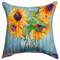 "SUNFLOWER BOUQUET INDOOR OUTDOOR PILLOW - 18"" SQUARE - FLORAL DECOR"