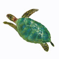SEA TURTLE METAL WALL SCULPTURE - SMALL - NAUTICAL DECOR