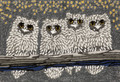 """NIGHT OWLS"" INDOOR OUTDOOR RUG - 24"" x 36"" - OWL RUG"