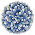 BLUE CHRYSANTHEMUM INDOOR OUTDOOR ROUND RUG - 5' ROUND RUG