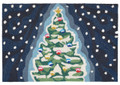 """O TANNENBAUM"" CHRISTMAS TREE RUG - 24"" x 36"" - INDOOR OUTDOOR RUG"