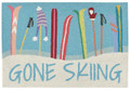 "GONE SKIING INDOOR OUTDOOR RUG - 24"" X 36"""