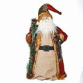 "PATCHWORK SANTA CHRISTMAS TREE TOPPER - 18""H"