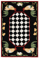 """FRENCH COUNTRY ROOSTER"" INDOOR OUTDOOR RUG - 42"" x 66"" - ROOSTER RUG"