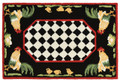 """FRENCH COUNTRY ROOSTER"" INDOOR OUTDOOR RUG - 30"" x 48"" - ROOSTER RUG"