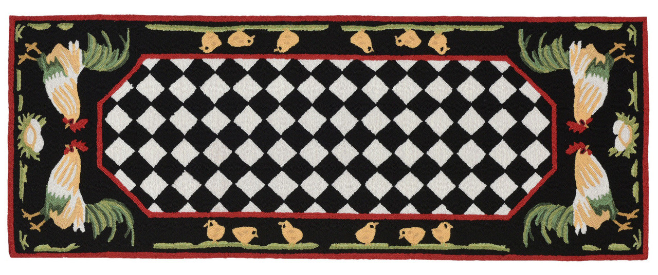 French Country Rooster Rug Kensington Row Runner Rugs