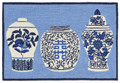 """BLUE & WHITE PORCELAINS"" INDOOR OUTDOOR RUG - 30"" X 48"""