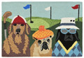 """GOLFING CANINES"" INDOOR OUTDOOR RUG - 30"" X 48"" - DOG RUG"