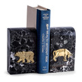 """ICONS OF WALL STREET"" MARBLE BOOKENDS - BULL & BEAR BOOKENDS"