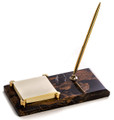 MARBLE PEN STAND & POST IT NOTE HOLDER
