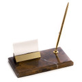 MARBLE PEN STAND & BUSINESS CARD HOLDER