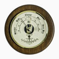 """PORTSMOUTH"" BAROMETER WITH THERMOMETER ON CHERRY WOOD BASE"
