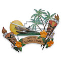"""TROPICAL PARADISE"" WALL SCULPTURE - ISLAND STYLE - TIKI - HAWAIIANA"