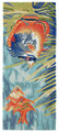 """SOUTH SEAS"" TROPICAL FISH RUG - 2' x 5' RUNNER - INDOOR OUTDOOR RUG"