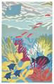 """""""OCEAN LIFE"""" TROPICAL REEF INDOOR OUTDOOR RUG - 8'3"""" x11'6"""" - NAUTICAL DECOR"""