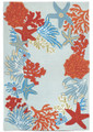 """CARIBBEAN BREEZE"" INDOOR OUTDOOR RUG - 5' x 7'6"" - NAUTICAL DECOR"