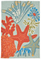 """CARIBBEAN BREEZE"" INDOOR OUTDOOR RUG - 30"" x 48"" - NAUTICAL DECOR"
