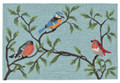 """COLORFUL SONGBIRDS"" INDOOR OUTDOOR RUG - BIRD RUG - 24"" x 36"""