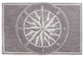 """MARINERS COMPASS"" INDOOR OUTDOOR RUG - 24"" x 36"" -  GRAY - NAUTICAL DECOR"