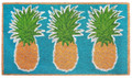 """TROPICAL PINEAPPLES"" VINYL BACK COIR DOORMAT - 18"" X 30"""