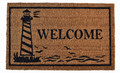 "LIGHTHOUSE COIR WELCOME MAT - 18"" x 30"" - LIGHTHOUSE DOORMAT - NAUTICAL DECOR"
