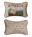 """ADVICE FROM A PIG"" REVERSIBLE PILLOW - 12.5"" x 8.5"""