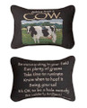 """ADVICE FROM A COW"" REVERSIBLE PILLOW - 12.5"" x 8.5"""