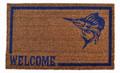 "FISHERMANS PARADISE COIR WELCOME MAT - 18"" x 30"" - SAILFISH DOORMAT"