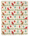 """CHRISTMAS CARDINALS"" FLEECE THROW BLANKET - 50"" X 60"""