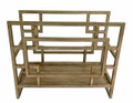 """OAK PARK"" GEOMETRIC MAGAZINE RACK - MAGAZINE HOLDER"