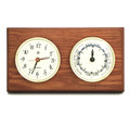"""SOUTHAMPTON"" TIDE AND TIME CLOCK ON OAK WOOD BASE - WEATHER STATION"