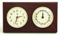 """SOUTHAMPTON"" CLOCK AND TIDE CLOCK - MAHOGANY WOOD BASE - WEATHER STATION"