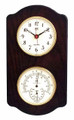 """CAPE CORAL"" CLOCK AND COMBINATION THERMOMETER & HYGROMETER ON ASH BASE - WEATHER STATION"