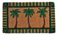 "PALM COAST COIR DOORMAT - 18"" x 30"" - PALM TREES DOOR MAT"