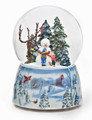 """GLEEFUL SNOWMAN"" MUSICAL SNOW GLOBE - SNOWMAN WITH CHILDREN"