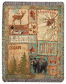 """GREAT LAKES"" TAPESTRY THROW - 50"" X 60"" THROW BLANKET"