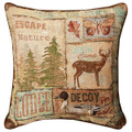 """GREAT LAKES"" TAPESTRY PILLOW #1 - 17"" SQUARE"
