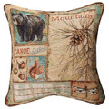 """GREAT LAKES"" TAPESTRY PILLOW #2 - 17"" SQUARE"