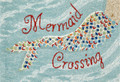 "MERMAID CROSSING INDOOR OUTDOOR RUG - 20"" x 30"" - NAUTICAL DECOR"